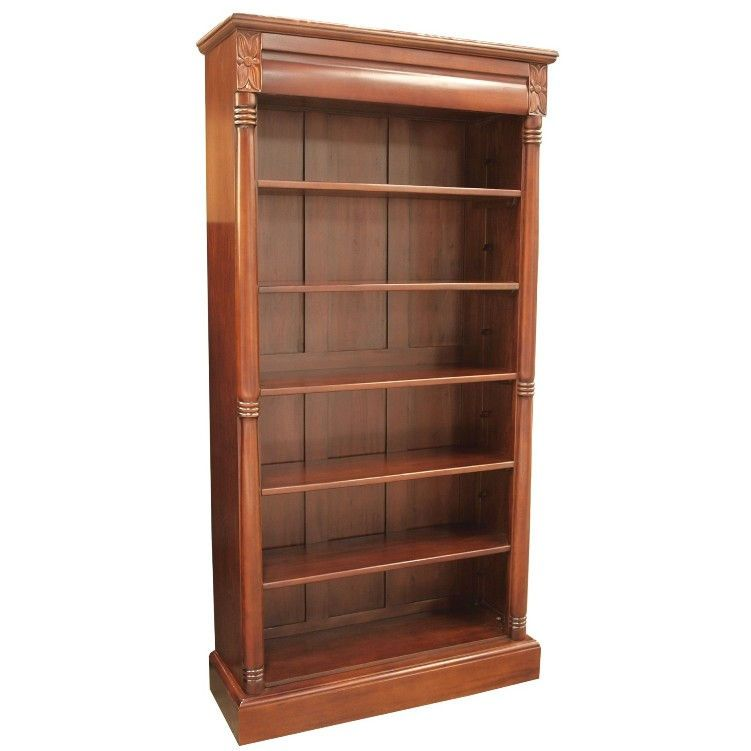 Arched Top Bookcase Mahogany Bookcase Open Bookcase Tall