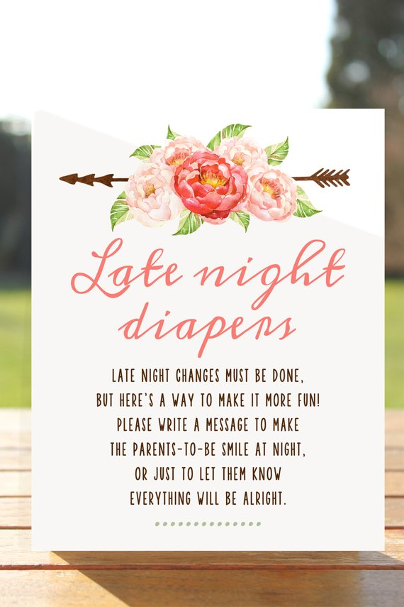 image relating to Late Night Diaper Messages Free Printable called Late night time diapers, late evening diaper indication, late night time