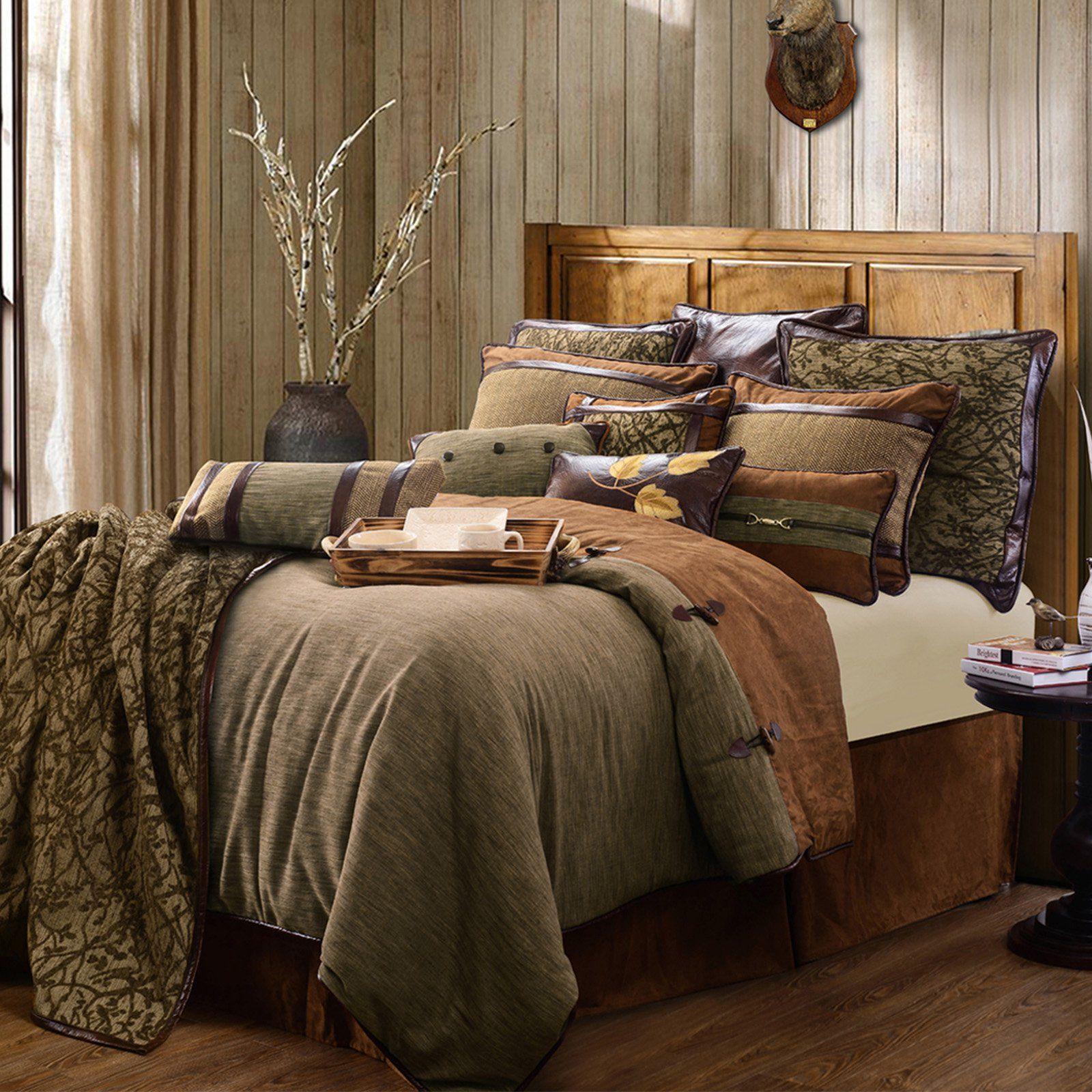 Literie De Luxe Suisse highland lodge 5 piece bedding sethiend accents - lg1860