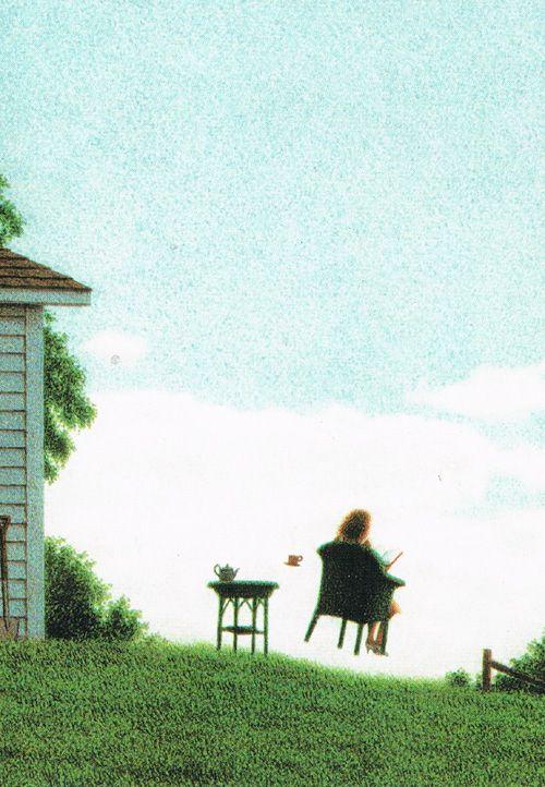 Lezende vrouw. Design: Quinz Buchholz. Postkaart