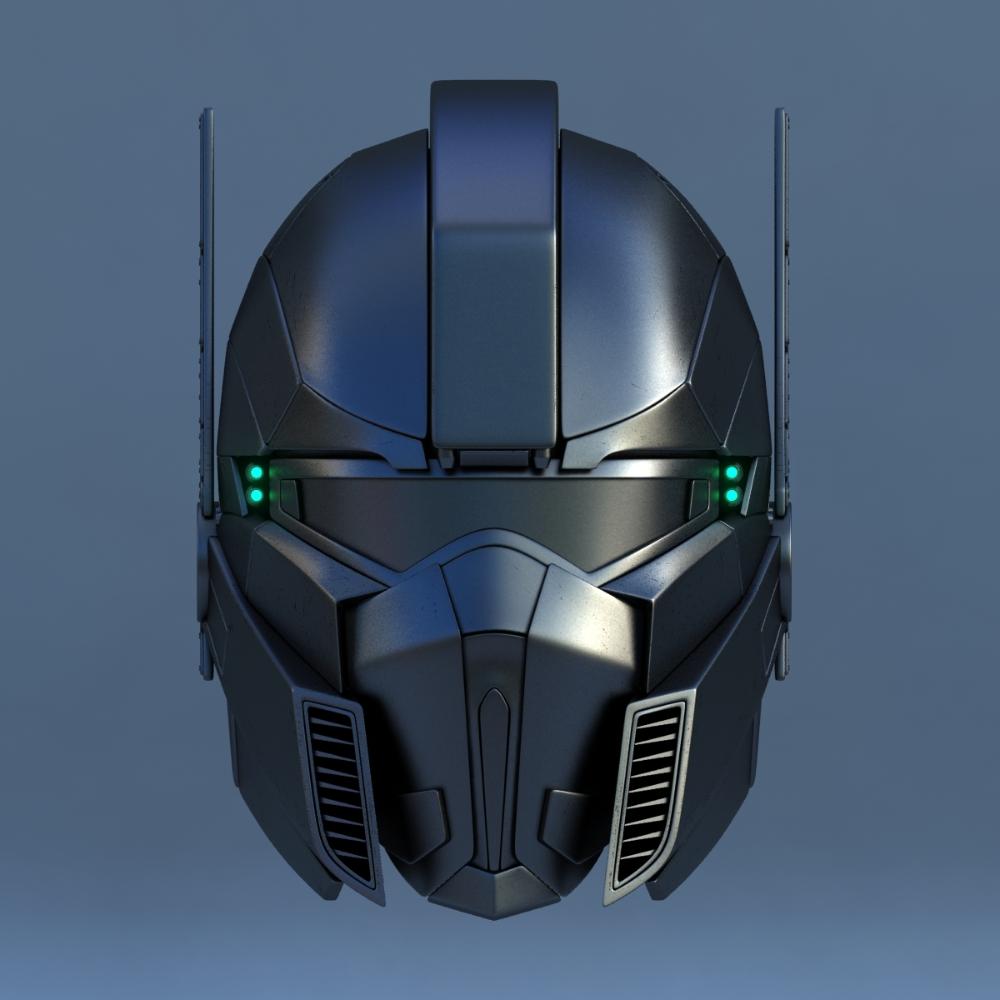 Robot Head Type 3d Model Futuristic Helmet Helmet Armor Helmet Concept