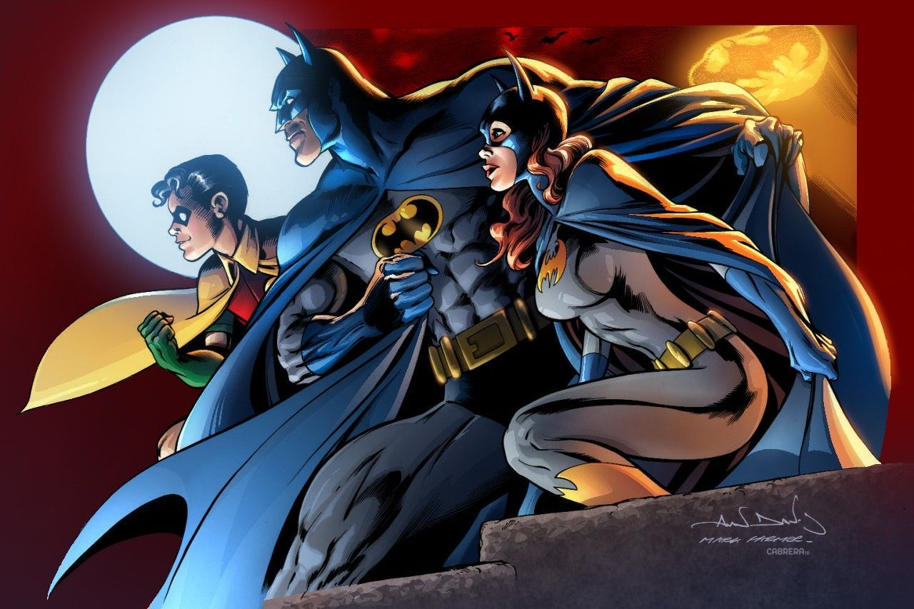 Batman Robin And Batgirl By Alan Davis Batman And Catwoman