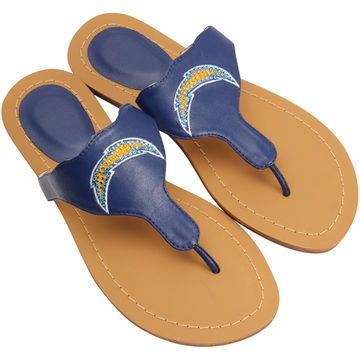 San Diego Chargers Cuce Shoes Women's Team Sandals - Navy