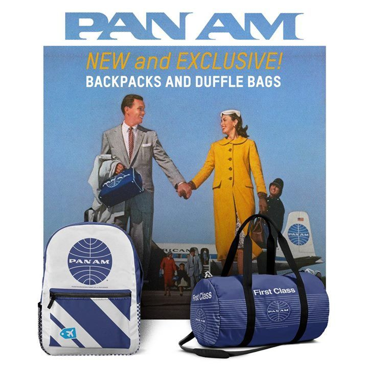Carry your best Pan Am memories in these amazing new bags! Only 3bad559fa2093