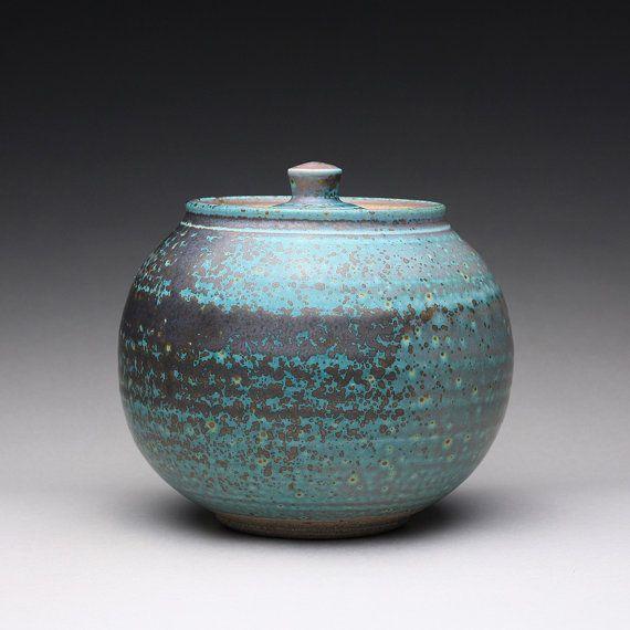 Vintage Handmade Ceramic Lidded Canister