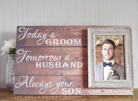 Gift For Grooms Parents - Thank You Wedding Gift - Parents Of The ...