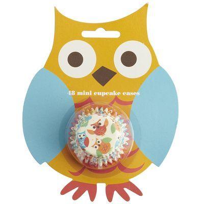 Mini Owl Cupcake Cases