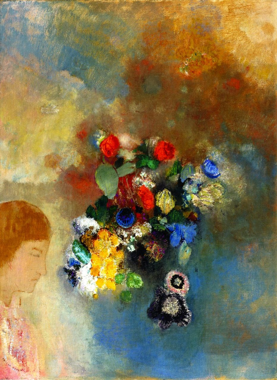 Odilon Redon The Dream Also Known As Thought Ca 1908 花 絵