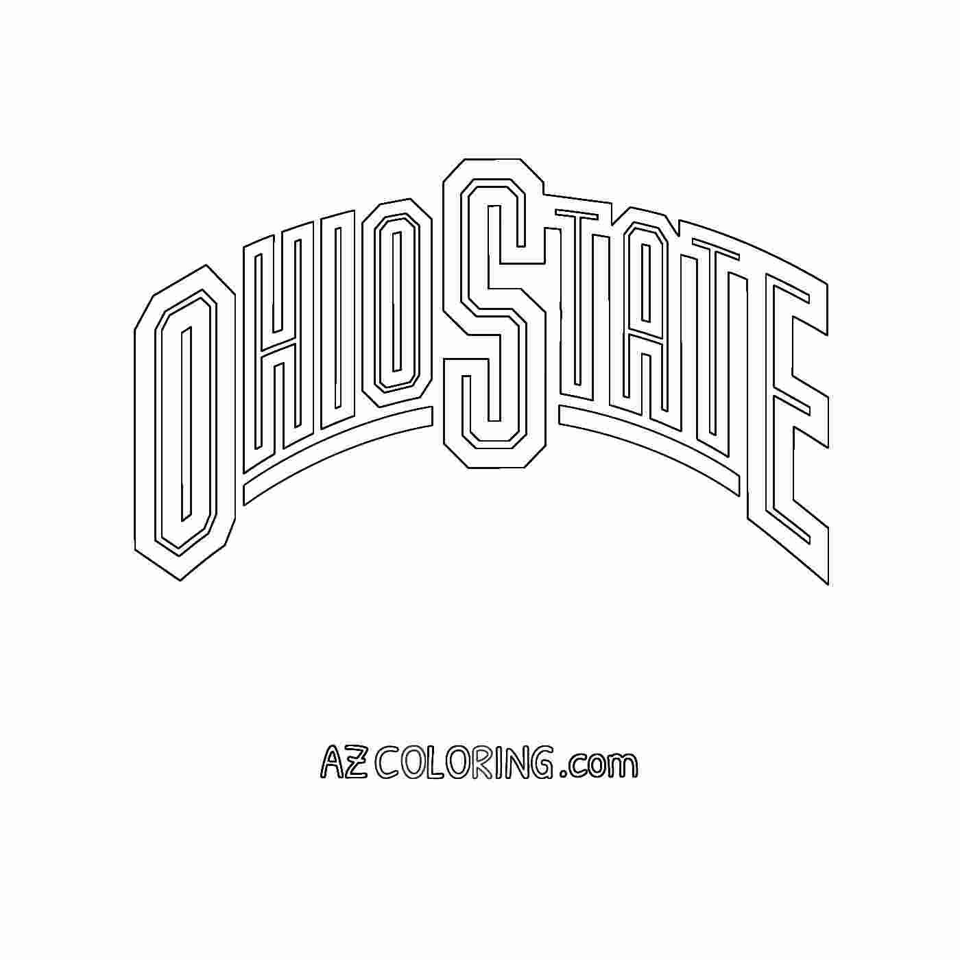 Free Ohio State Coloring Pages In 2020 Ohio State Colors Ohio State Buckeyes Ohio State