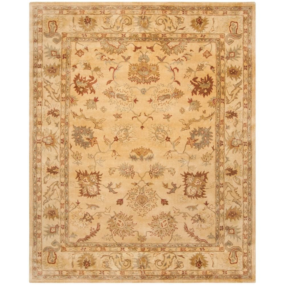 Safavieh Bergama Taupe Ivory 9 Ft X 12 Ft Area Rug Wool Area Rugs Rugs Hand Tufted Rugs