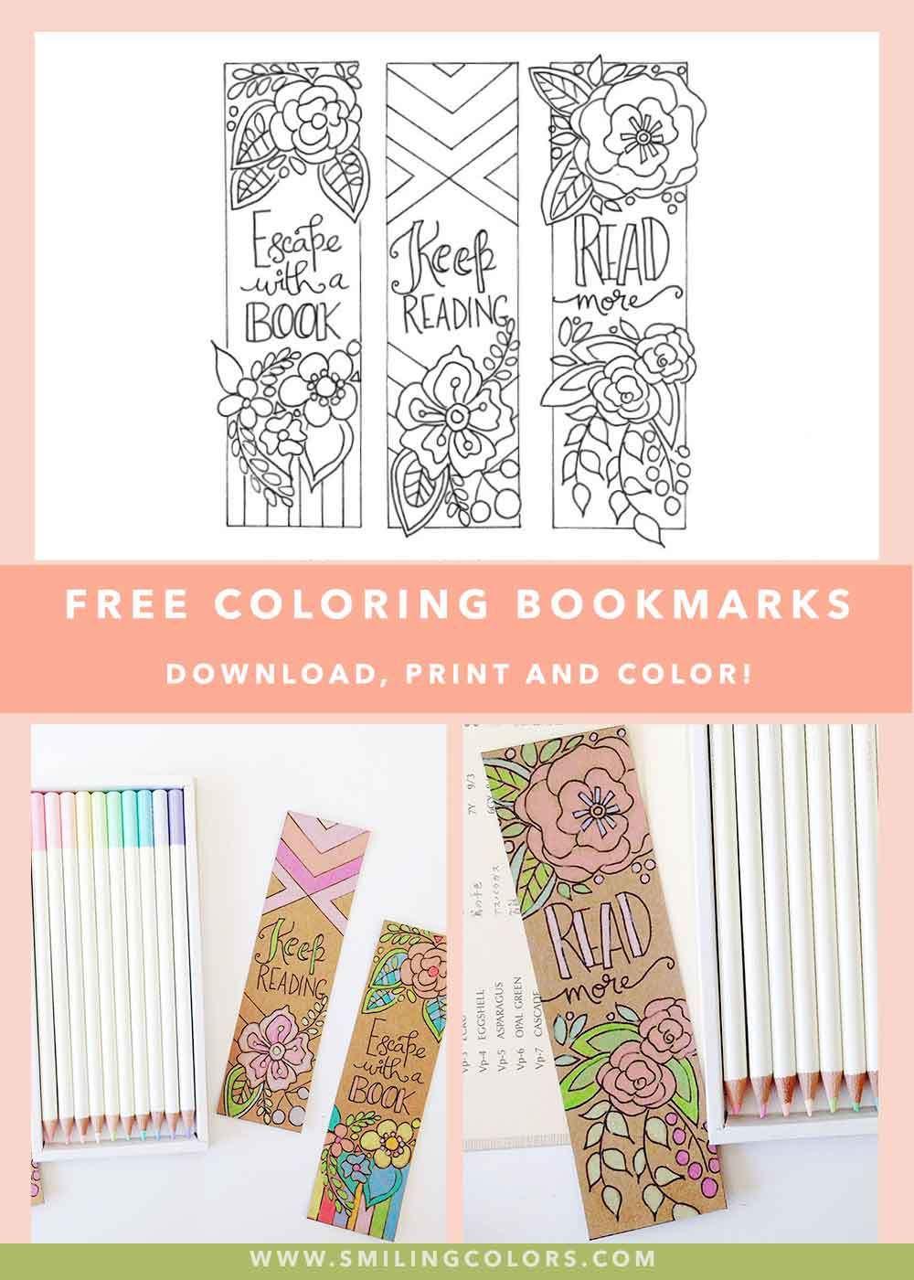 Bookmarks to color adults - Bookmarks Printable Free Bookmarks To Color For Adults And Kids Book Quotes Smithakatti