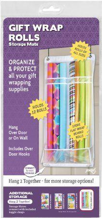 Jokari Storage Mates Over The Door Gift Wrap Roll Organizer