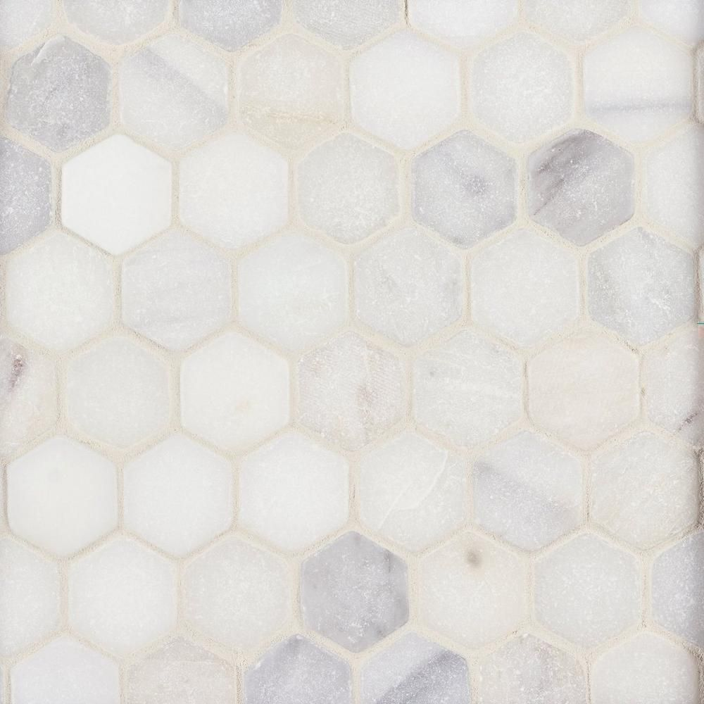 Carrara White Hexagon Marble Mosaic Floor Decor In 2020 Marble Mosaic White Marble Mosaic Marble Mosaic Floor