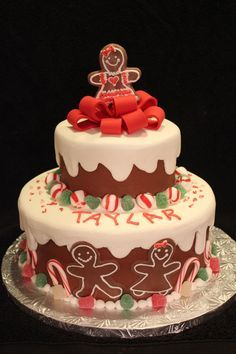 Remarkable Gingerbread Birthday Cake Google Search With Images Holiday Funny Birthday Cards Online Hetedamsfinfo