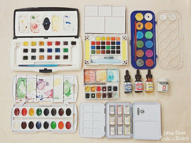 Watercolor Materiales De Arte Clases De Dibujo Dibujos Con Acuarelas