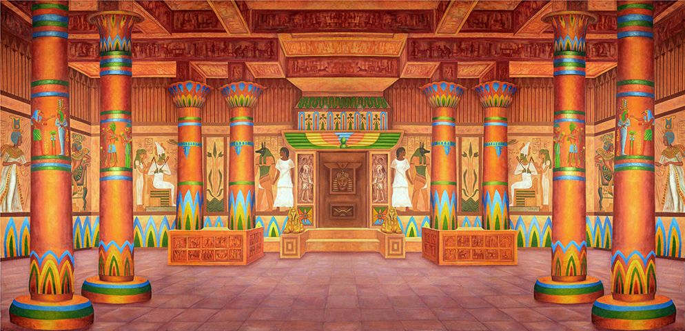 Pharaoh S Palace Interior Ancient Egyptian Throne Room