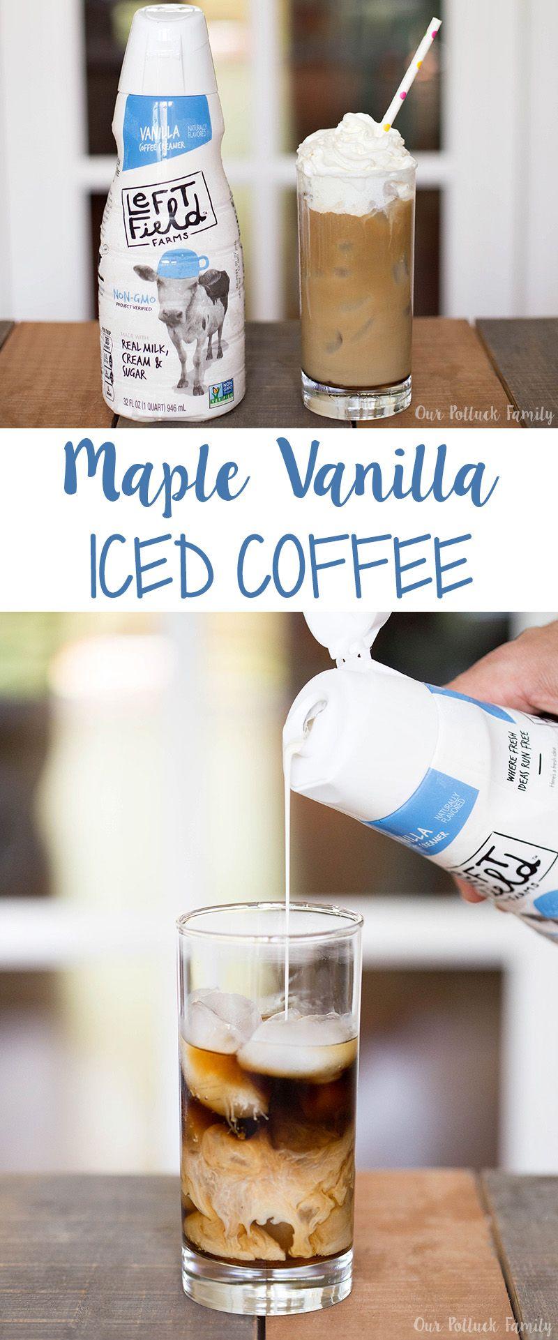 Maple Vanilla Iced Coffee Vanilla iced coffee, Iced