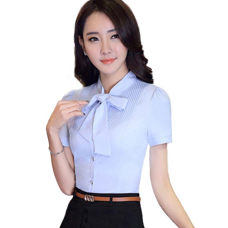 b5213cba1ab06 Encontrar Más Blusas y Camisas Información acerca de 2016 verano nueva moda  Formal mujeres arco camisa