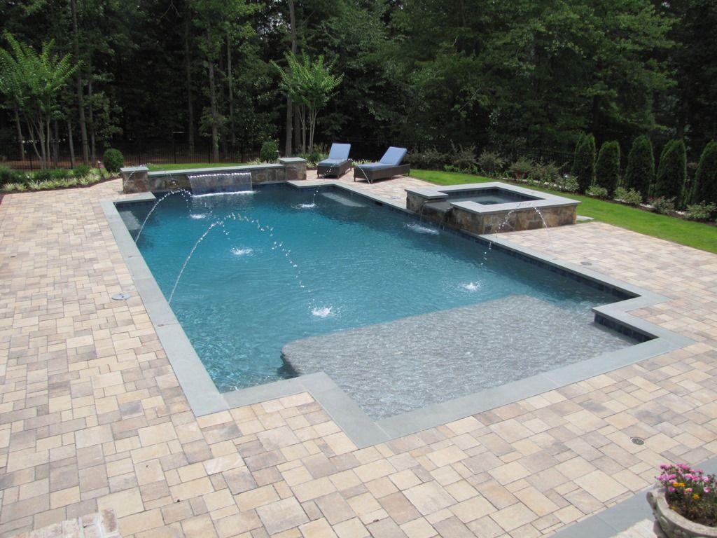 Atlanta Pool Builder Geometric In Ground Luxury Swimming Pool Photos Pools Backyard Inground Swimming Pools Backyard Inground Luxury Swimming Pools