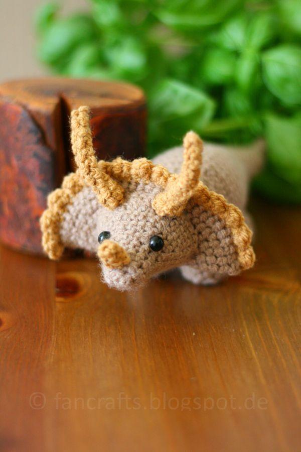 Triceratops Alles In Runden Und Festen Maschen Häkeln Solange