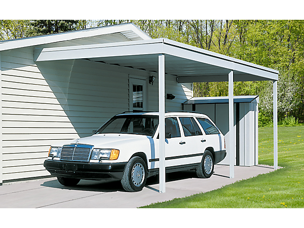 Arrow Attached Patio Cover/Carport, 10x20, Hot Dipped