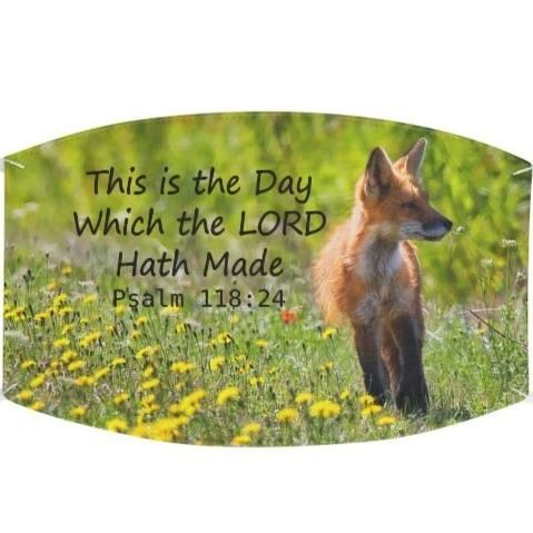 This is the day which the LORD hath made Psalm 118:24 KJV Wear this cheery face covering as a reminder that the LORD made this day and that you will rejoice and be glad in it. Choose to be joyful and see how it affects others. Add an extra layer of protection with a personalized touch. These reusable cloth face masks made of 100% Polyester provide a physical barrier around the face. They, however, are not medical-grade, thus, not meant for medical use. Great for everyday use for overall protecti