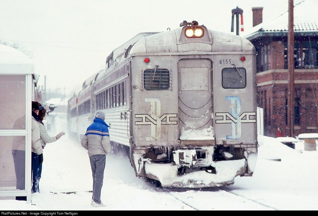 MBTA) Budd RDC-1 # at Waltham, Massachusetts, USA