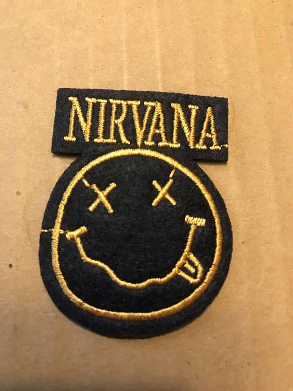 NIRVANA Band Embroidered Patch kurt cobain