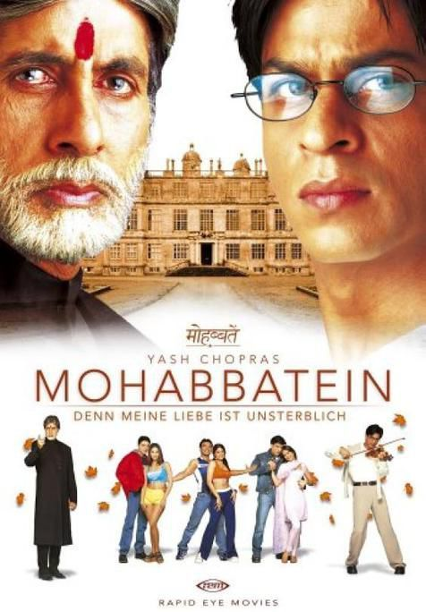 Mohabbatein | full movies download, best bollywood movies, srk movies.