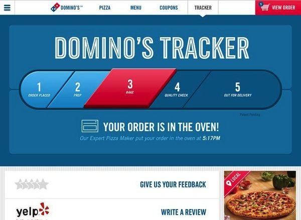 Order resume online on dominos
