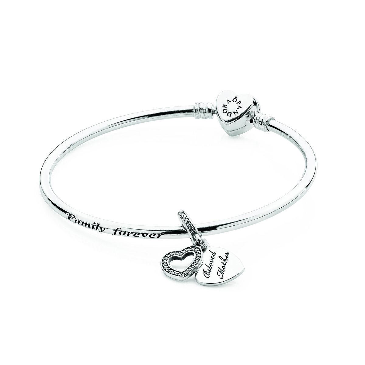 PANDORA A Mother's Love Bangle Gift Set RETIRED   Pandora bracelet ...