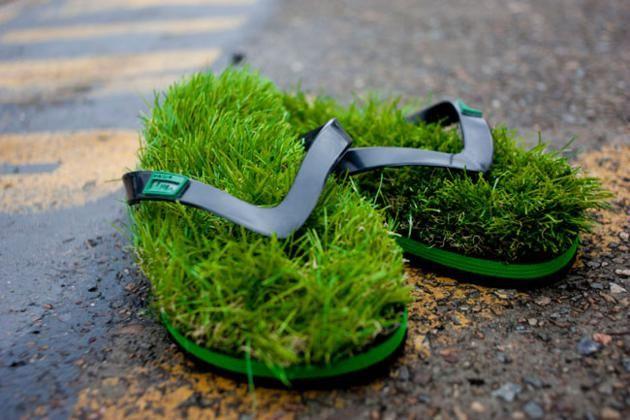 Kusa Grass Flip Flops Nothing Is Better Than Walking On