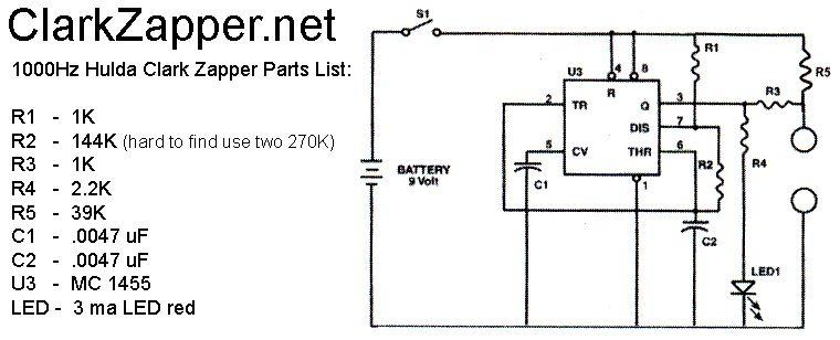 hulda clark zapper schematic 30 khz and 1000 hz elektroniken rh pinterest com