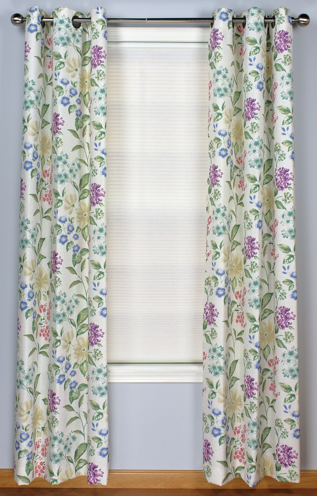 Christine Printed Grommet Curtain Panel Pair Grommet Curtains