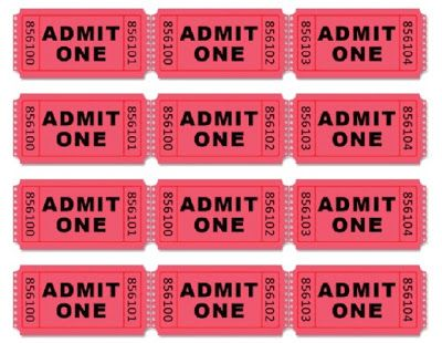 Movie Themed Birthday Party Filing, Themed birthday parties and - admit one ticket template