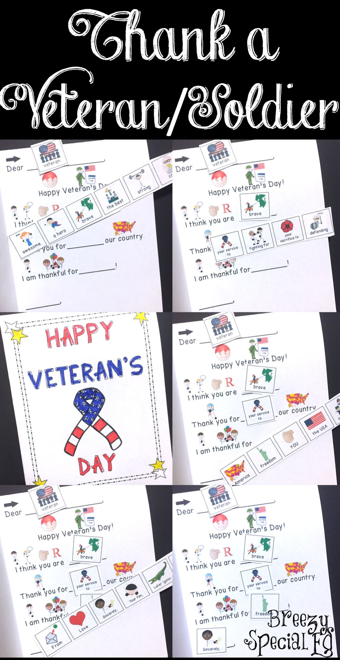 Veterans Day Sol R Cards Differentiated For All Your