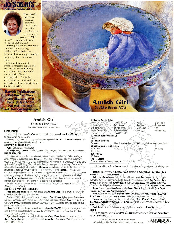 Jo Sonja Project Card Helan Barrick