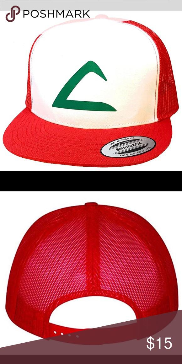 Flat Bill Ash Ketchum Cosplay Trucker Hat Cap Trucker Hat Ash Ketchum Cosplay Hats