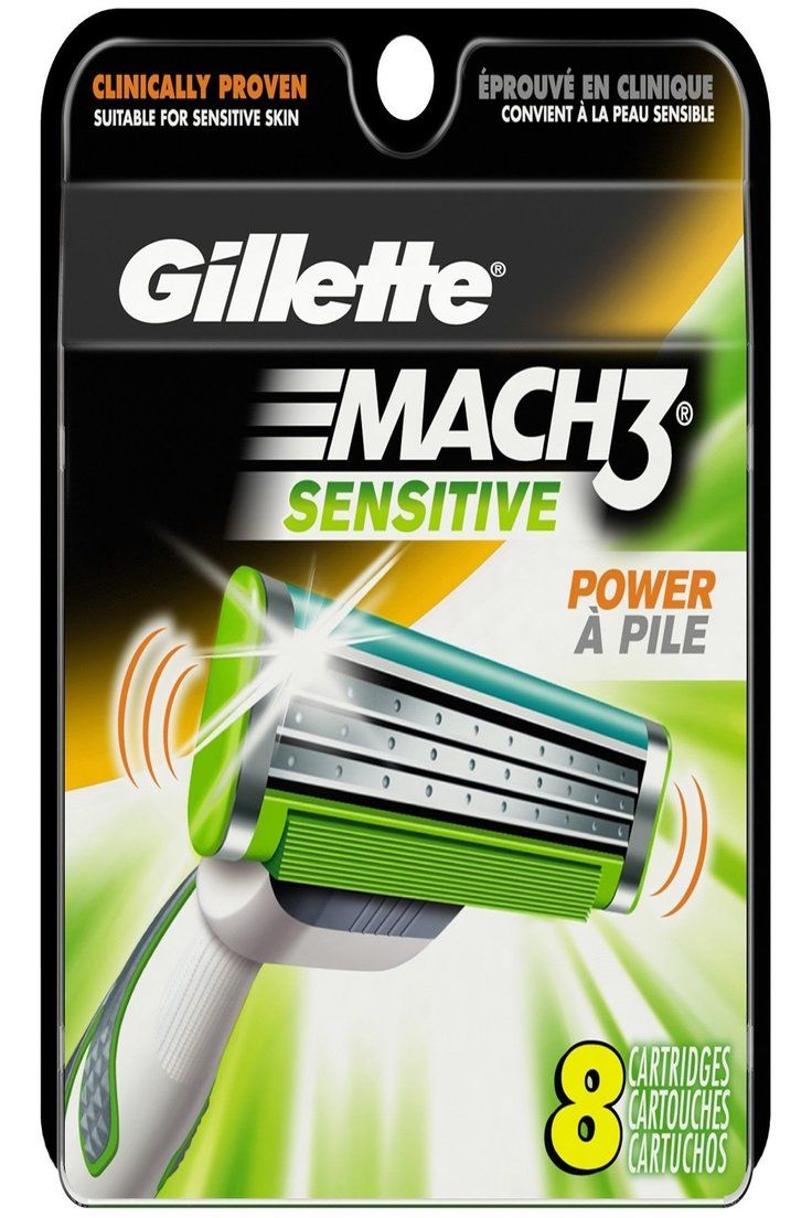 34.99 Gillette Mach 3 Sensitive Power AVEC Pile