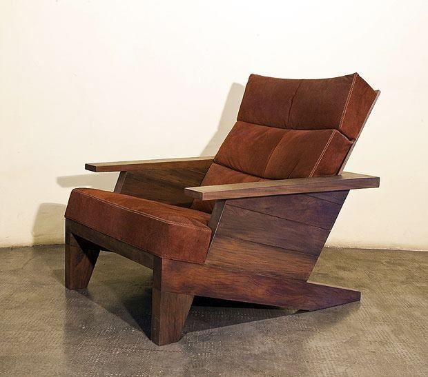 Santa rita chair carlos motta sillas y sillones for Sillones de madera reciclada