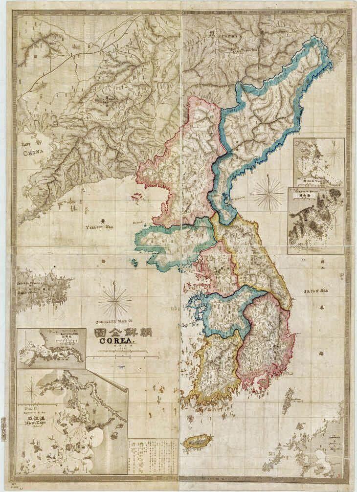 1875 japanese map of korea map northkorea southkorea korea 1875 japanese map of korea map northkorea southkorea korea gumiabroncs Images