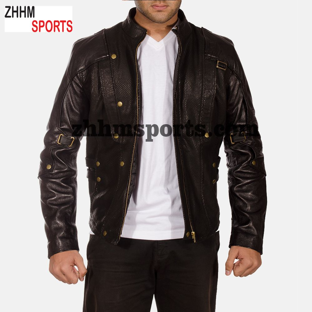 Stylish Leather Jacket Long Sleeve Sweatshirt For Men Men Print Men S Jackets Stylish Leather Jacket Jackets Mens Sweatshirts [ 1000 x 1000 Pixel ]