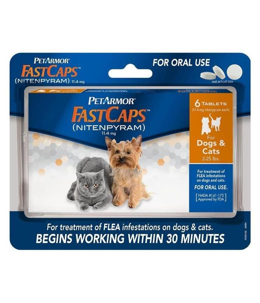 PET ARMOR FASTCAPS FOR DOGS & CATS~6 FAST CAPS TABLETS~New~Exp12/2016~PETARMOR #Sergeants