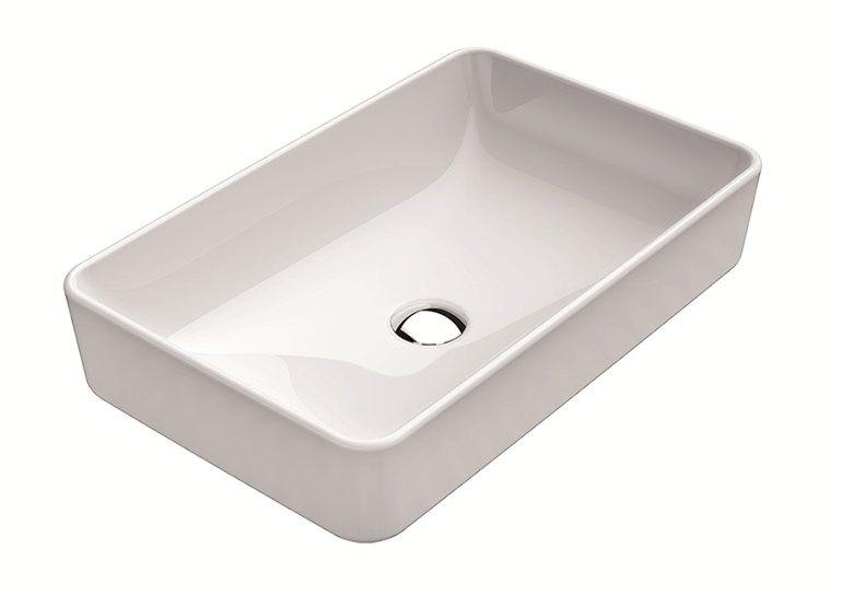 Rechteckiges Aufsatzwaschbecken Pura 60 Aufsatzwaschbecken Gsi