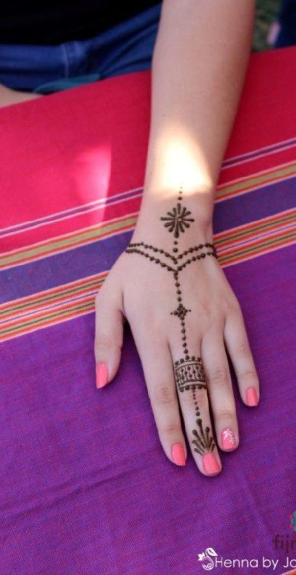 Small Henna Wrist Tattoos Sea Turtle And Lotus Infinity: 60 Simple Henna Tattoo Designs To Try At-least Once