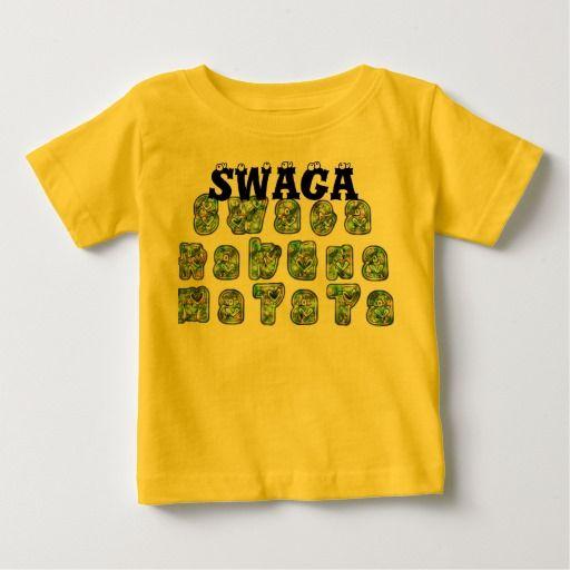 #T-shirt #apertado #da #criança de #Swaga Hakuna Matata #Presentes #legal #redondos #vermelhos #de #Hakuna #Camisetas #para #Bebês e #Crianças #Swag