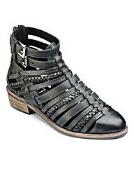 Sole Diva Strappy Ankle Boot EEE Fit