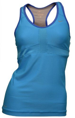 86f477563df48 NIKE Women s Dedication II Long Vent Training Tank Top Sports Bra – Blue «  Clothing Adds Anytime