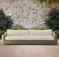 "112"" Provence Luxe Sofa x 1, Grey, Perennials Textured Linen Weave in Sand"