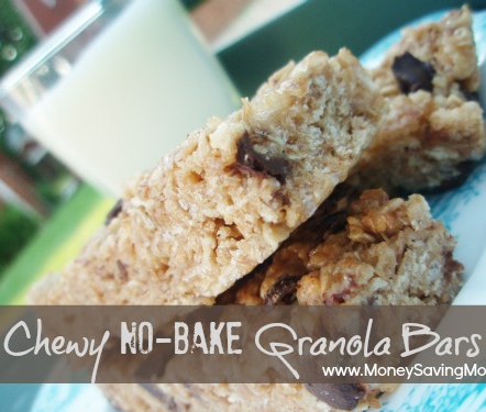 These Chewy No-Bake Granola Bars are hands down my favorite homemade granola bar recipe ever! If you've been looking for a really fantastic homemade granola bar recipe, this is it!
